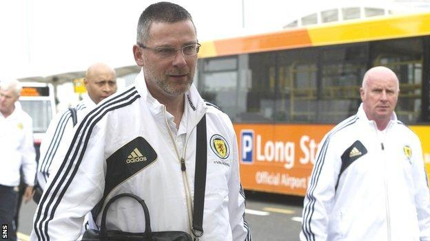 Scotland manager Craig Levein and assistant Peter Houston