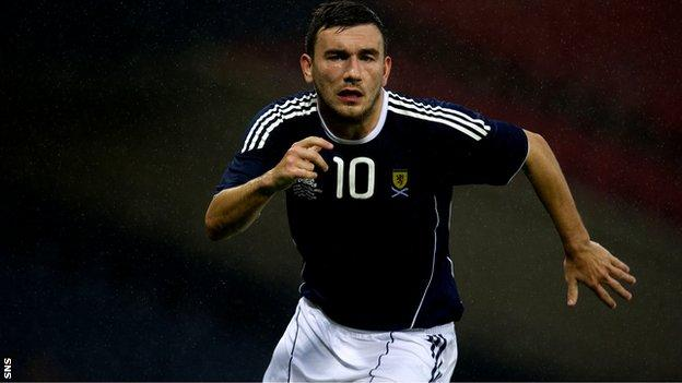 Leeds midfielder Snodgrass has played five times for Scotland