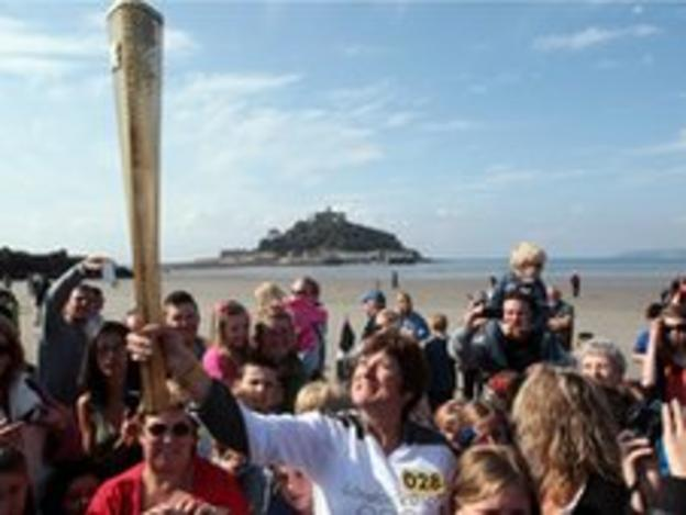 Olympic torch relay in Cornwall