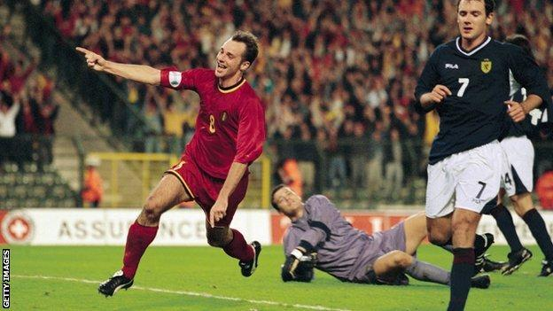 Belgium beat Scotland on their last World Cup qualifying visit in 2001