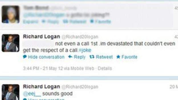 Richard Logan's tweet