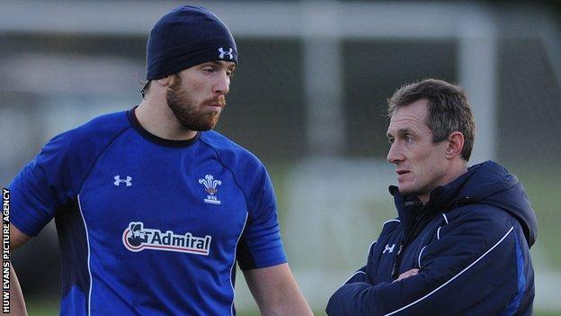 Ospreys captain Alun Wyn Jones and Wales caretaker coach Rob Howley