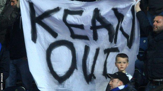 Blackburn manager Steve Kean has been the subject of fans protests