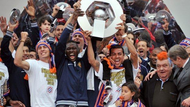 Montpellier celebrate their title
