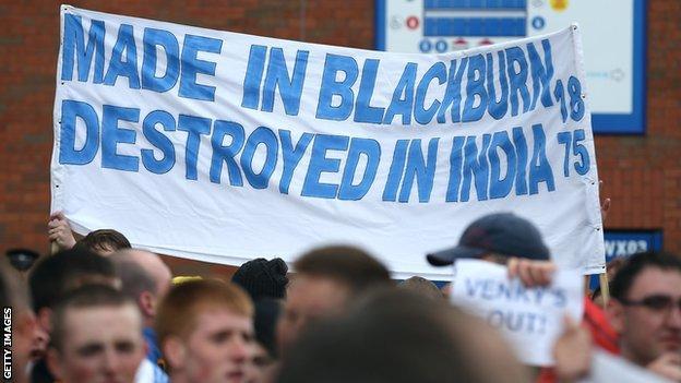 Angry Blackburn fans