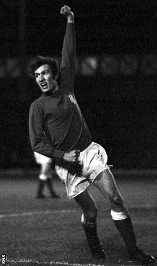 Sandy Jardine during his playing days at Rangers