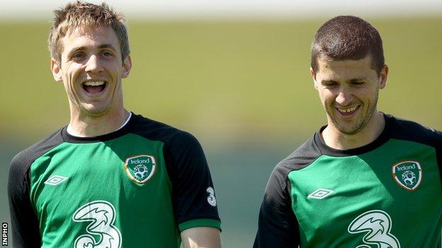 Kevin Doyle and Shane Long are among the contenders to partner Robbie Keane in the Republic's attack