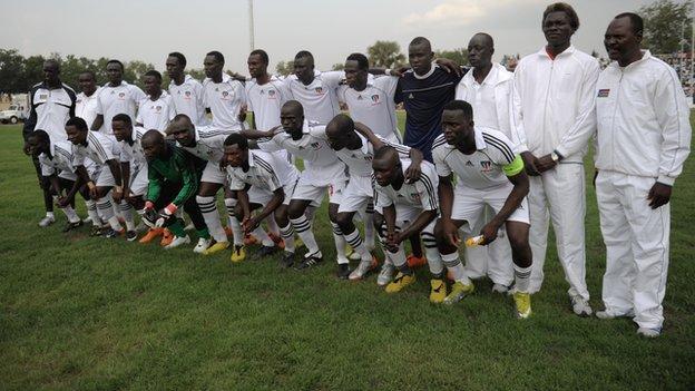 South Sudan's football team