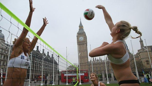 Beach volleyball tickets remain unsold