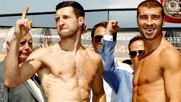 Carl Froch (left) and Lucian Bute