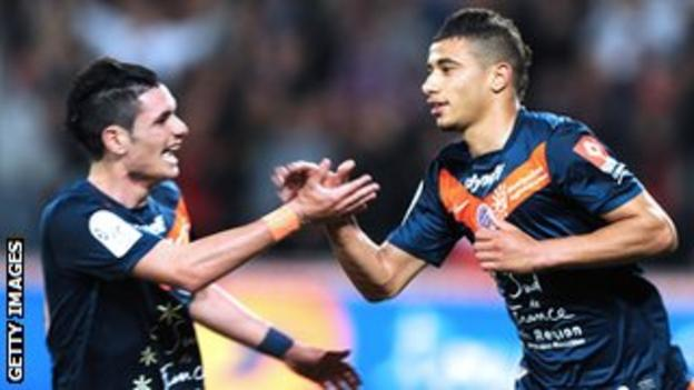 Younes Belhanda of Montpellier and Morocco (right)