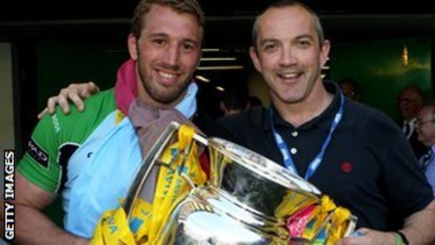 Chris Robshaw and Conor O'Shea