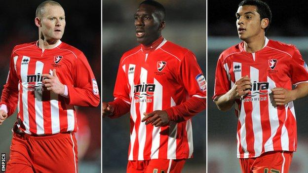Josh Low, Brian Smikle and Theo Lewis (L-R)
