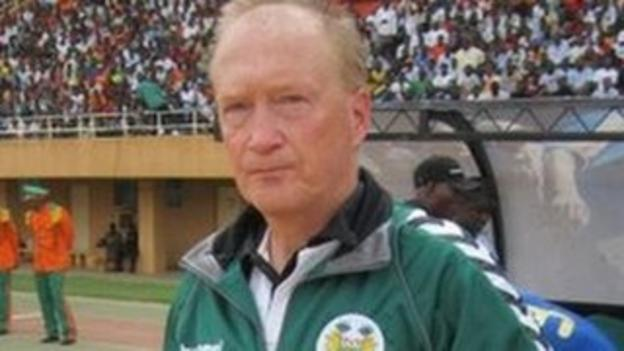 Sierra Leone's Swedish coach Lars Olof Mattsson