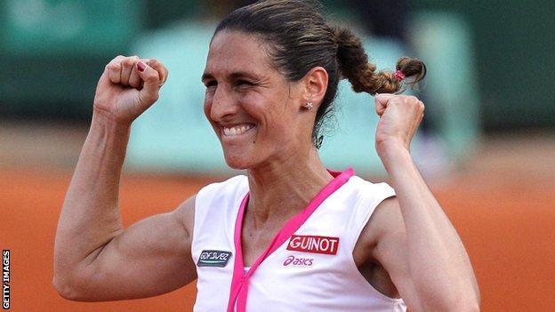 Virginie Razzano, who beat Serena Williams
