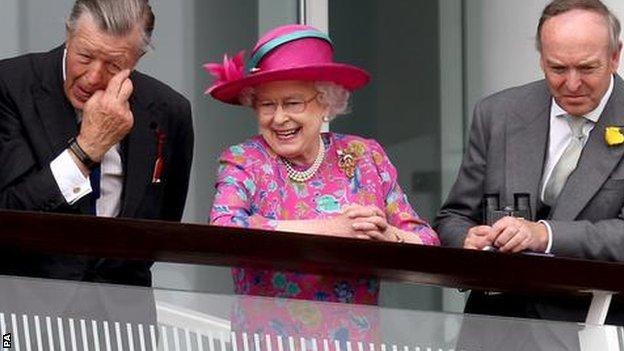 The Queen on Derby Day in 2008