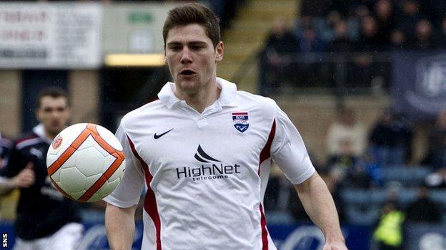 Ross County midfielder Iain Vigurs