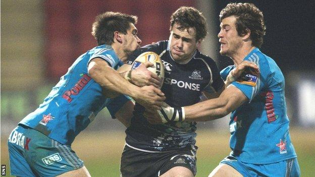 Glasgow Warriors centre Alex Dunbar
