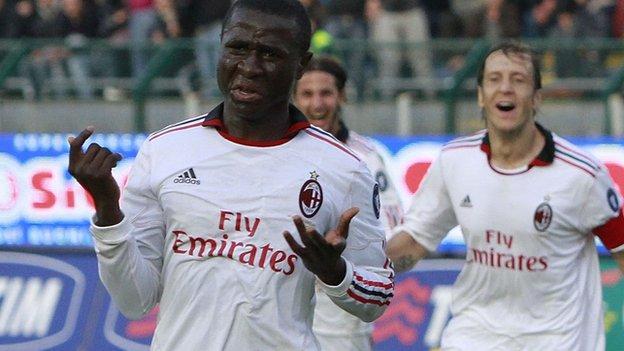 Rodney Strasser of Sierra Leone and AC Milan
