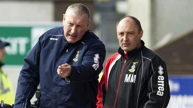 Inverness manager Terry Butcher and assistant Maurice Malpas