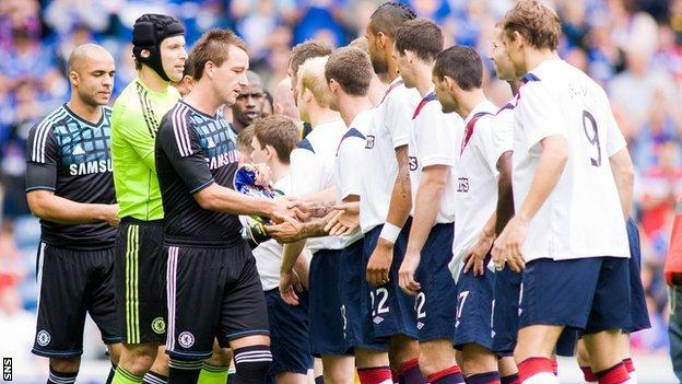 Chelsea and Rangers players