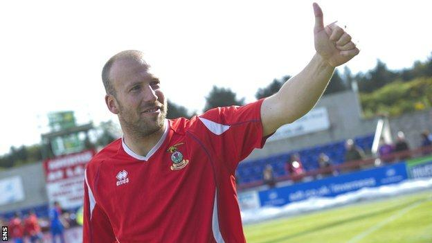 Inverness CT defender Ross Tokely