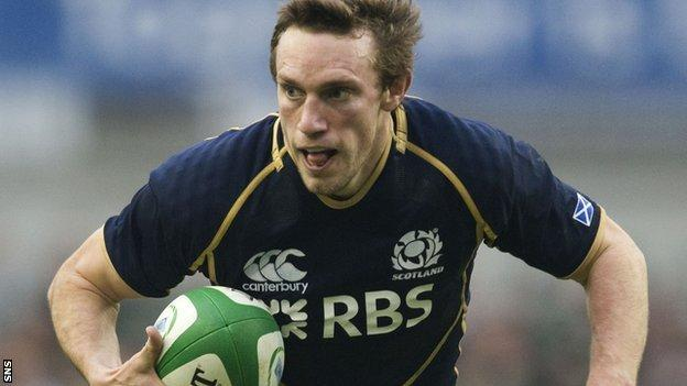 Scotland scrum-half Mike Blair