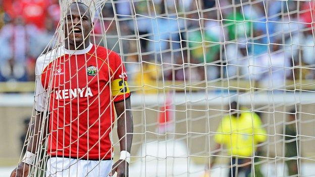Dennis Oliech captained the side upon his return to the Harambee Stars squad