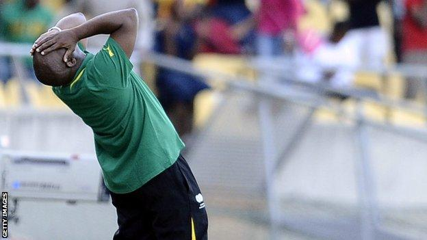 Pitso Mosimane watches South Africa against Ethiopia