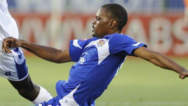 Mogogi Gabonamong in action for SuperSport United