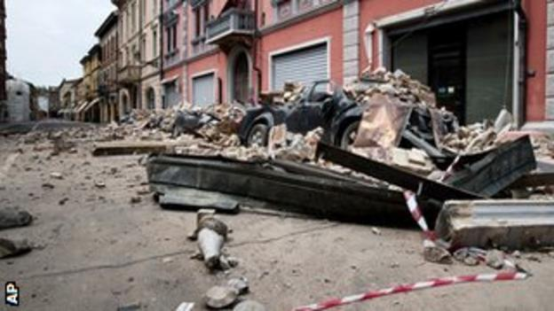 24 people lost their lives in the earthquake in northern Italy