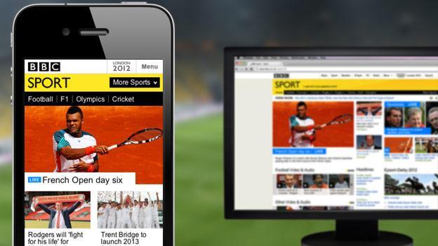 BBC Sport mobile homepage
