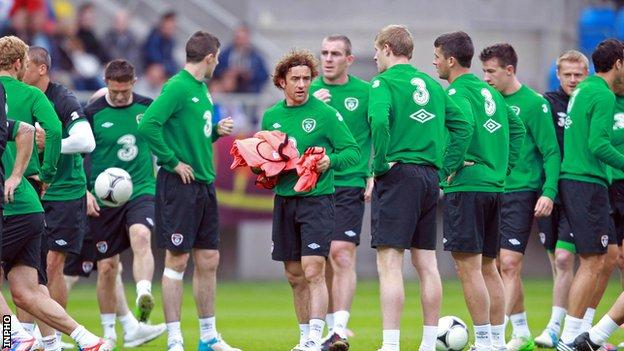 Ireland hold a training session in Gdansk