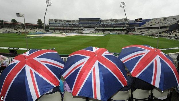 No play was possible before lunch at Edgbaston