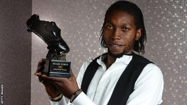 Anderlecht and DR Congo's Dieumerci Mbokani