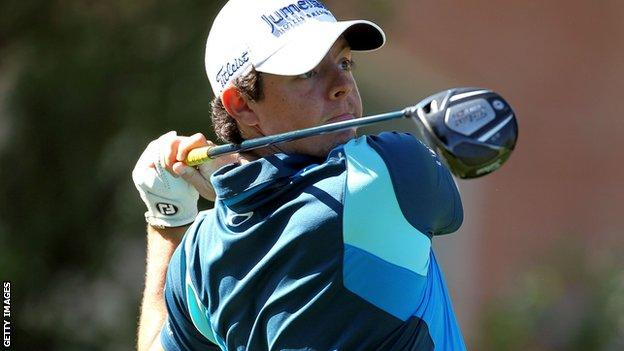 Rory McIlroy hits a drive in the first round of the St Jude Classic