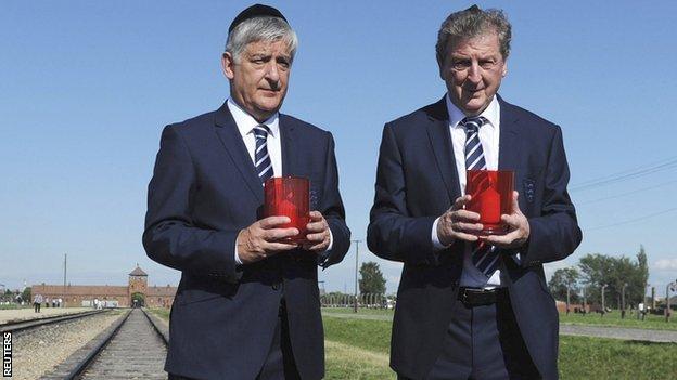 FA chairman David Bernstein and Roy Hodgson