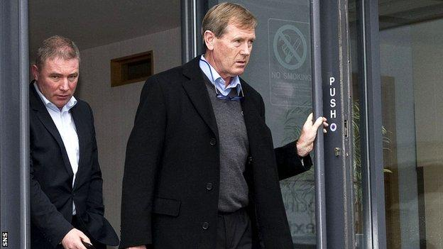 Rangers director Dave King with manager Ally McCoist (left)