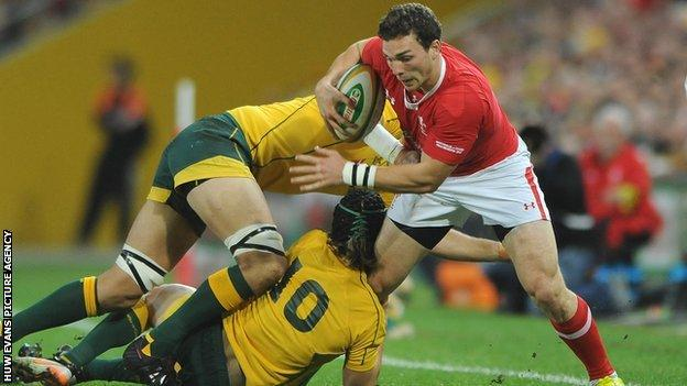 Wales wing George North injured his right knee against Australia
