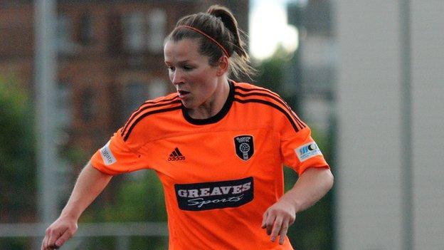 Glasgow City player Emma Mitchell