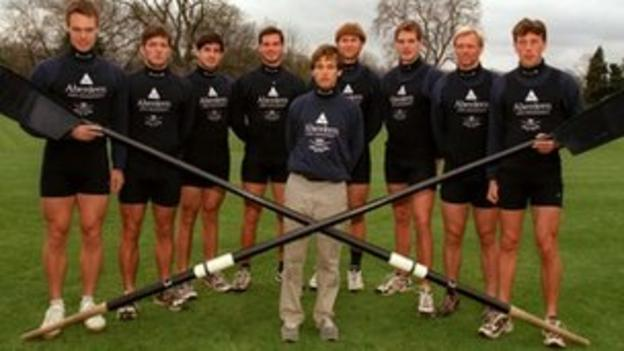 Lindsay, second left, as part of Oxford crew
