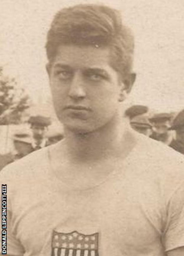 Former 100 metres world record holder Donald Lippincott