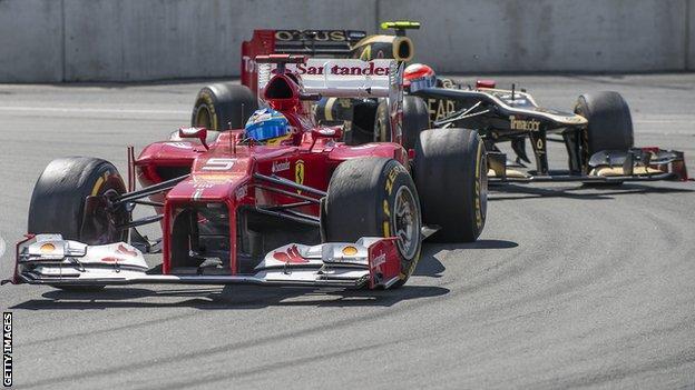 Ferrari in Formula One action