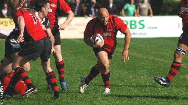 Nathan Kemp in action for Jersey