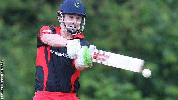 Shaun Marsh in action for Glamorgan against a Swalec Premier League XI