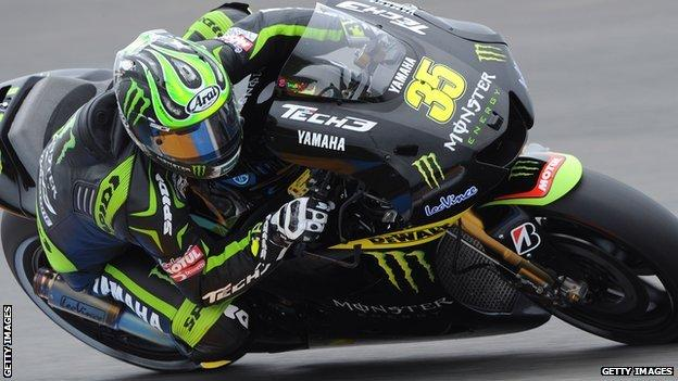 Cal Crutchlow on his Yamaha