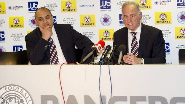 New non-executive director Imran Ahmad and chief executive Charles Green