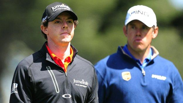 Rory McIlroy and Lee Westwood