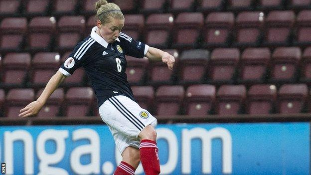 Kim Little scored a first-half hat-trick at Tynecastle