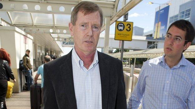 Dave King arrives at Glasgow Airport